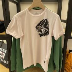 [아울렛] 비비안웨스트우드 남성 라운드 로고 티셔츠 37010024