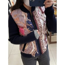 [아울렛] 페라가모 프린트 퀄팅 여성 자켓 11D554 736220